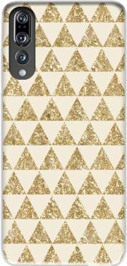 Glitter Triangles in Gold Case for Huawei P20 Pro / Plus