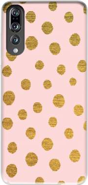 Golden Dots And Pink Case for Huawei P20 Pro / Plus
