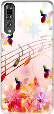 Musical Notes Butterflies Case for Huawei P20 Pro / Plus