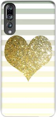 Sunny Gold Glitter Heart Case for Huawei P20 Pro / Plus