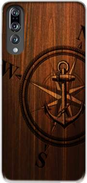 Wooden Anchor Case for Huawei P20 Pro / Plus