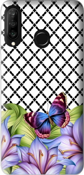 Case flower power Butterfly for Huawei P30 Lite / Nova 4