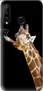 Girafe smoking cigare Huawei P30 Lite / Nova 4 Case