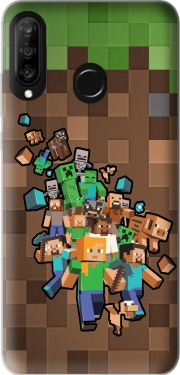Minecraft Creeper Forest Case for Huawei P30 Lite / Nova 4