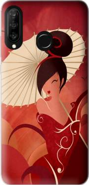 Sakura Asian Geisha Case for Huawei P30 Lite / Nova 4