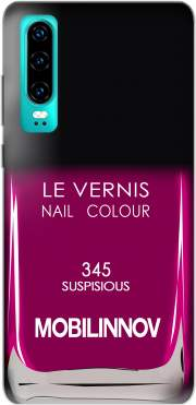 Nail Polish 345 SUSPISIOUS Case for Huawei P30