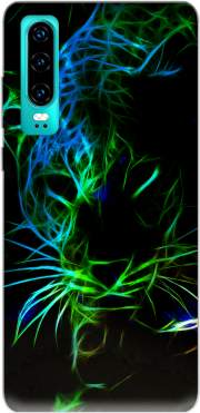 Abstract neon Leopard Case for Huawei P30