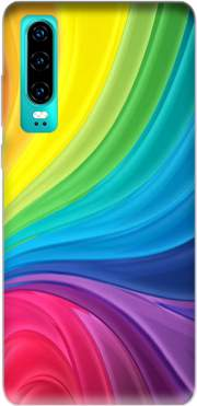 Rainbow Abstract Case for Huawei P30