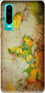 World Map Case for Huawei P30