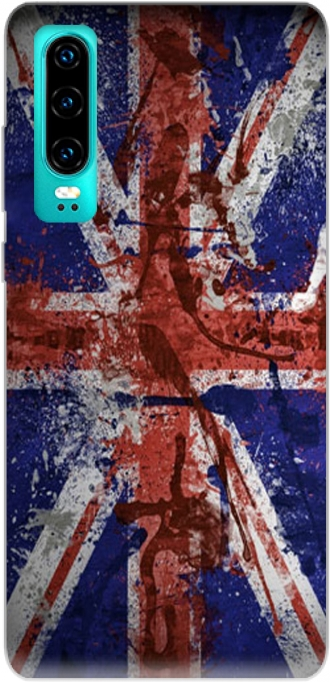 Silicone Huawei P30 with pictures flag
