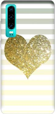 Sunny Gold Glitter Heart Case for Huawei P30