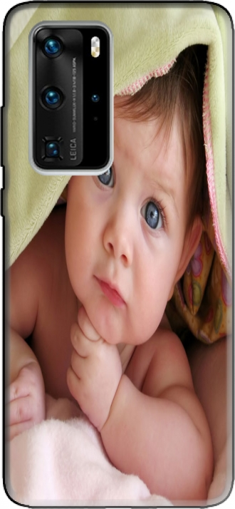 Silicone Huawei P40 PRO with pictures baby