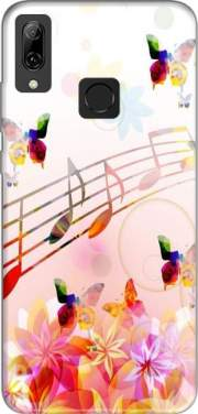 Musical Notes Butterflies Case for Huawei P Smart 2019