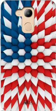 3D Poly USA flag Case for Honor 6c Pro / Huawei V9 Play
