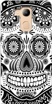 black and white sugar skull Case for Honor 6c Pro / Huawei V9 Play