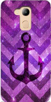 Anchor Chevron Purple Case for Honor 6c Pro / Huawei V9 Play