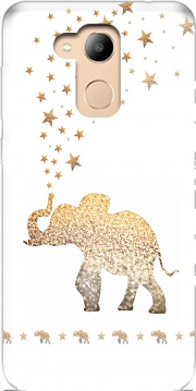 Gatsby Gold Glitter Elephant Case for Honor 6c Pro / Huawei V9 Play