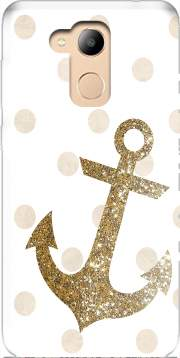 Glitter Anchor and dots in gold Case for Honor 6c Pro / Huawei V9 Play
