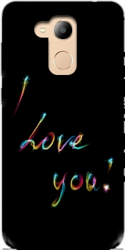 I love you - Rainbow Text Case for Honor 6c Pro / Huawei V9 Play