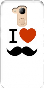 I love Moustache Case for Honor 6c Pro / Huawei V9 Play
