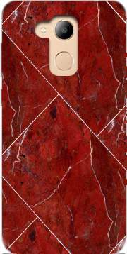 Minimal Marble Red Honor 6c Pro / Huawei V9 Play Case
