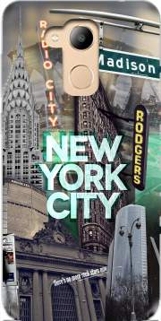 New York City II [green] Case for Honor 6c Pro / Huawei V9 Play
