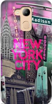 New York City II [pink] Case for Honor 6c Pro / Huawei V9 Play