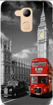 Red bus of London with Big Ben Case for Honor 6c Pro / Huawei V9 Play