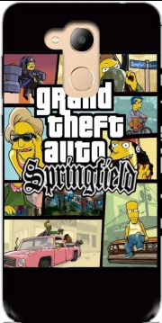 Simpsons Springfield Feat GTA Case for Honor 6c Pro / Huawei V9 Play
