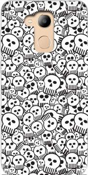 toon skulls, black and white Case for Honor 6c Pro / Huawei V9 Play