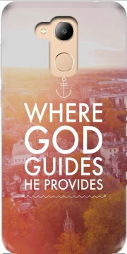 Where God guides he provides Bible Case for Honor 6c Pro / Huawei V9 Play