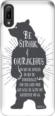 Be Strong and courageous Joshua 1v9 Bear Huawei Y6 2019 Case