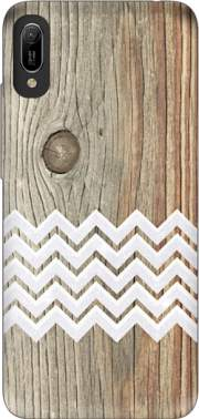 Chevron on wood Case for Huawei Y6 2019