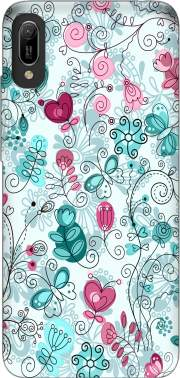 doodle flowers and butterflies Case for Huawei Y6 2019