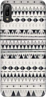 Ethnic Candy Tribal in Black and White Case for Huawei Y6 2019