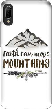 Faith can move montains Matt 17v20 Bible Blessed Art Huawei Y6 2019 Case