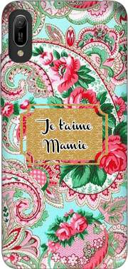 Floral Old Tissue - Je t'aime Mamie Huawei Y6 2019 Case