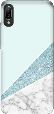 Initiale Marble and Glitter Blue Huawei Y6 2019 Case