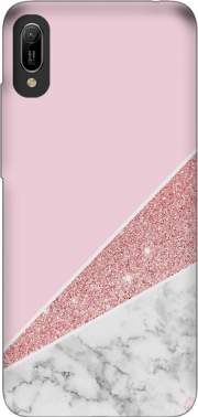 Initiale Marble and Glitter Pink Case for Huawei Y6 2019
