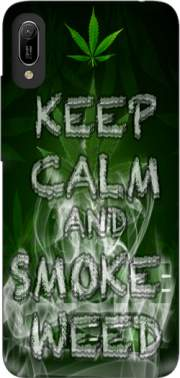 Keep Calm And Smoke Weed Case for Huawei Y6 2019