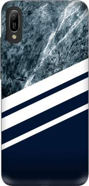 Marble Navy Case for Huawei Y6 2019