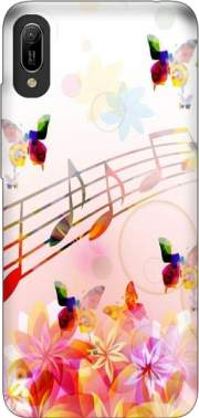 Musical Notes Butterflies for Huawei Y6 2019