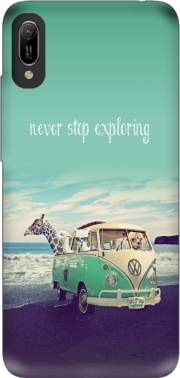 Never Stop Exploring - Lamas on Holidays Case for Huawei Y6 2019