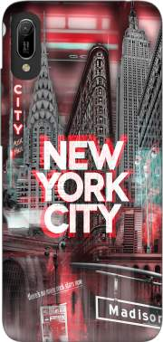 New York City II [red] Case for Huawei Y6 2019