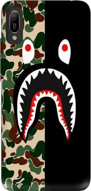 Shark Bape Camo Military Bicolor Case for Huawei Y6 2019