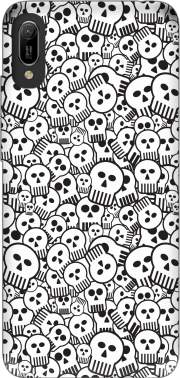 toon skulls, black and white for Huawei Y6 2019