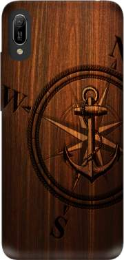 Wooden Anchor Case for Huawei Y6 2019