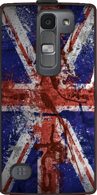 Leather Case LG Spirit LTE 4g with pictures flag