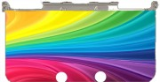 Rainbow Abstract Case for New Nintendo 3DS