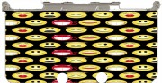 funny smileys Case for New Nintendo 3DS